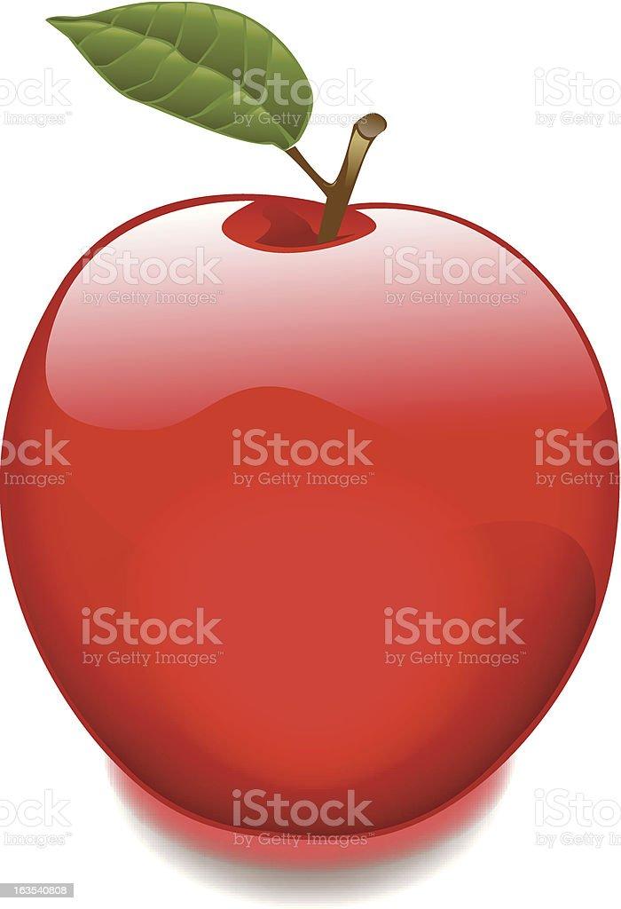 Glowing Gel Apple royalty-free stock vector art
