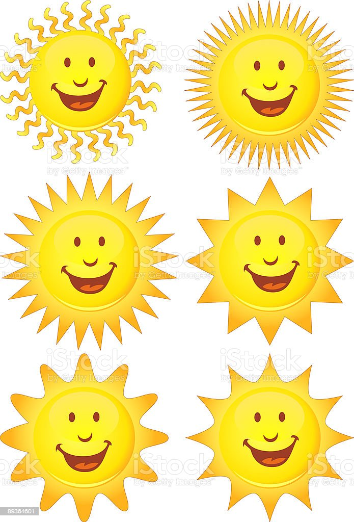 Glowing Sun Collection royalty free glowing sun collection stockvectorkunst en meer beelden van afgelegen