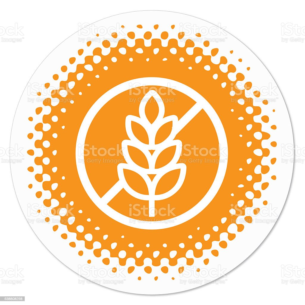 Gluten Free Badge vector art illustration