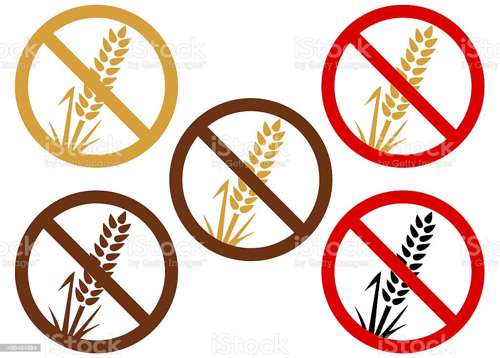 Gluten or wheat free vector art illustration