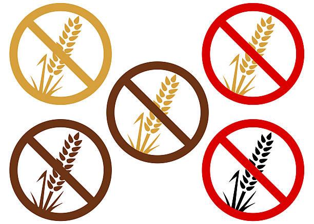 Sin Gluten o trigo - ilustración de arte vectorial