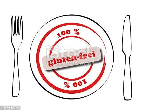 istock gluten-frei - glutenfree in german 517642793