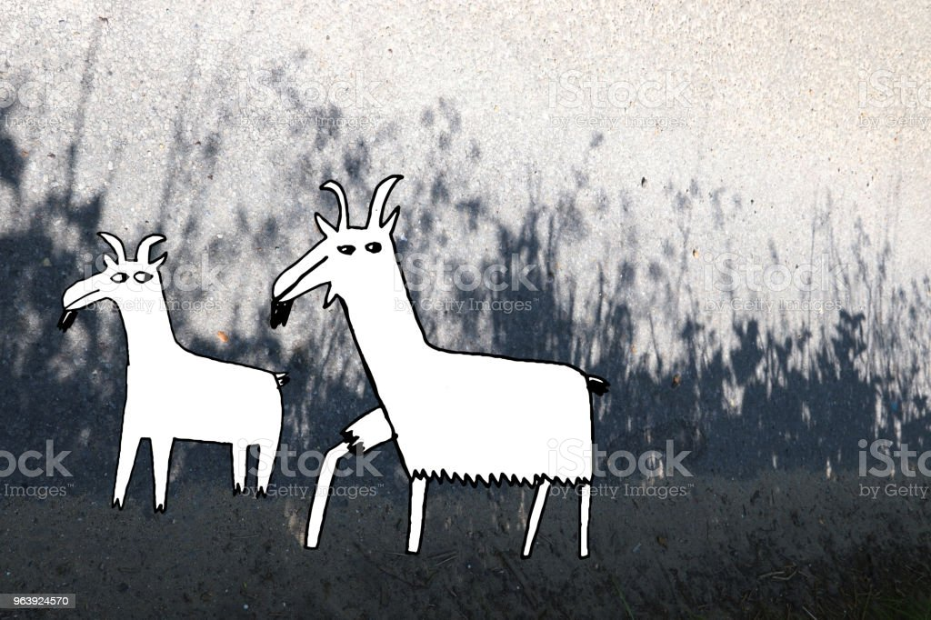 Goats - Royalty-free Agriculture stock illustration