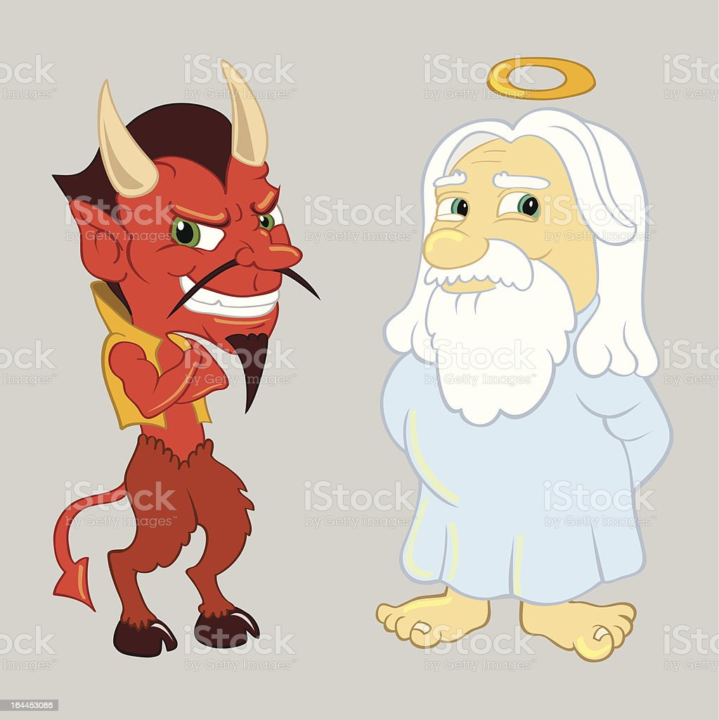 God and the Devil royalty-free stock vector art