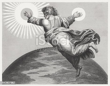 istock God mad sun and moon (Genesis 1), published 1841 542807962