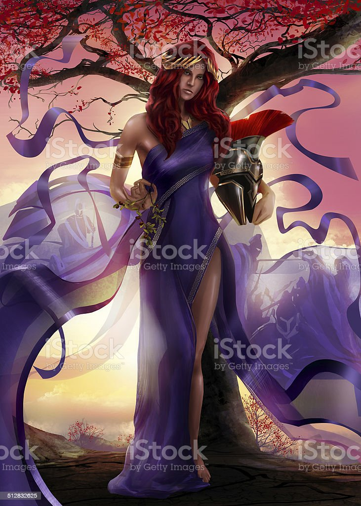 Goddess vector art illustration