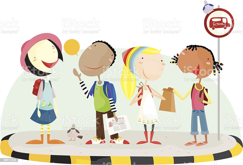 going to school - Royaltyfri Barn vektorgrafik