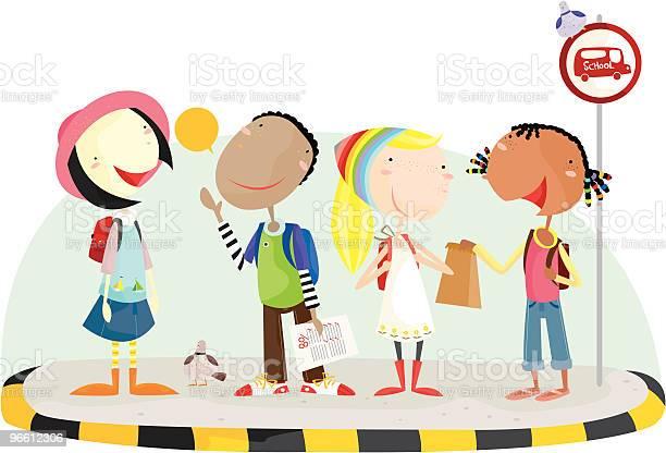 Going To School-vektorgrafik och fler bilder på Barn