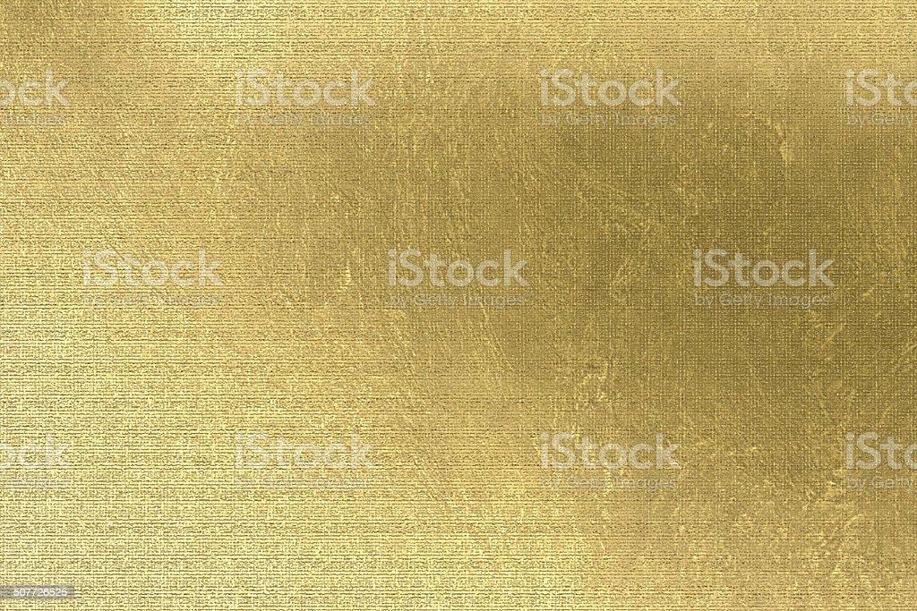 Gold background, brown paper, linen texture, festive and business backdrop vector art illustration