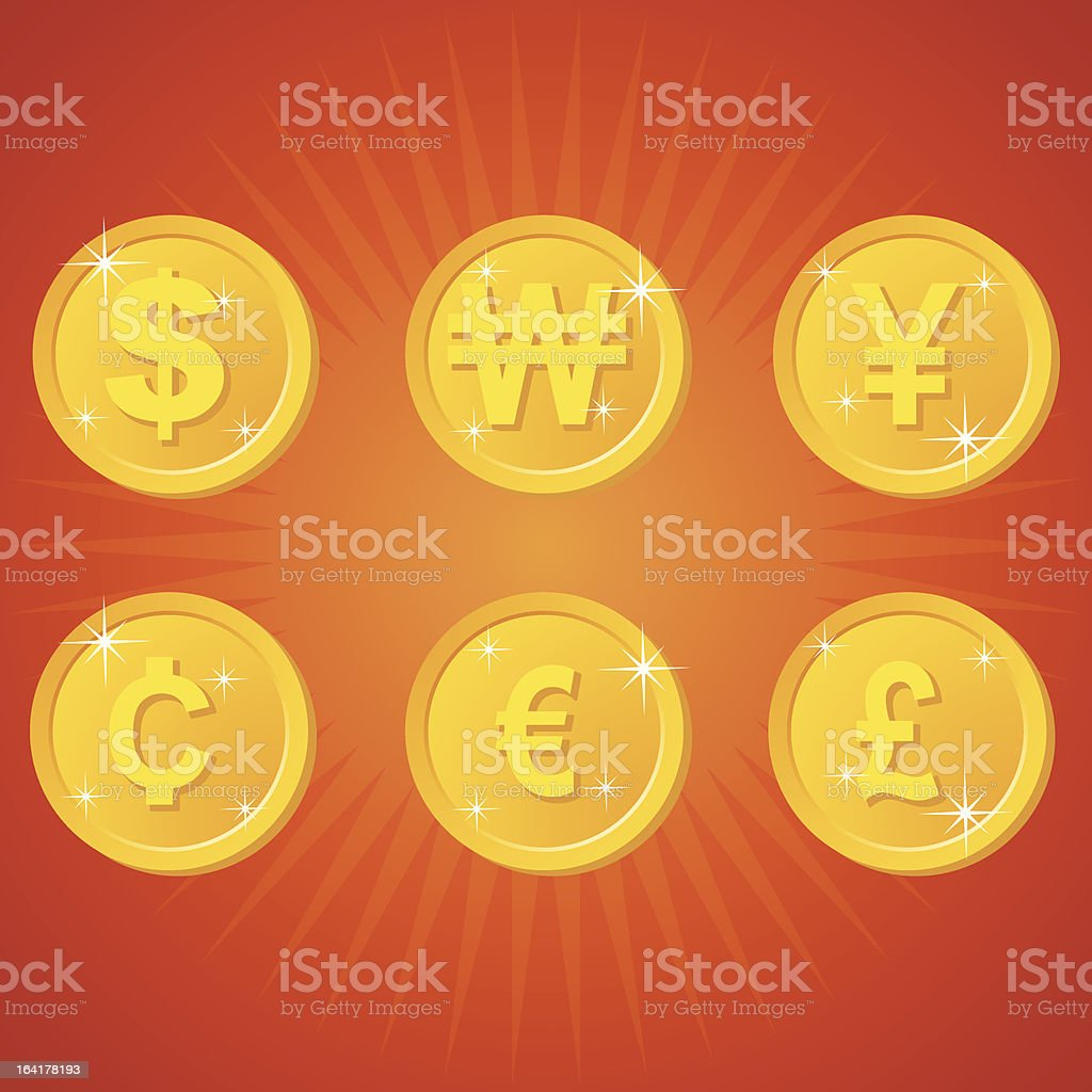 Gold Coin royalty-free stock vector art