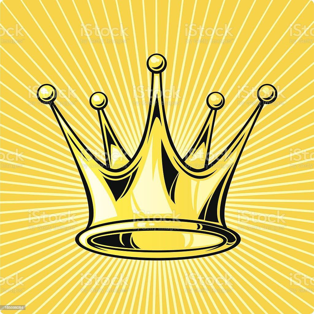 Corona de oro ilustración de corona de oro y más banco de imágenes de abundancia libre de derechos