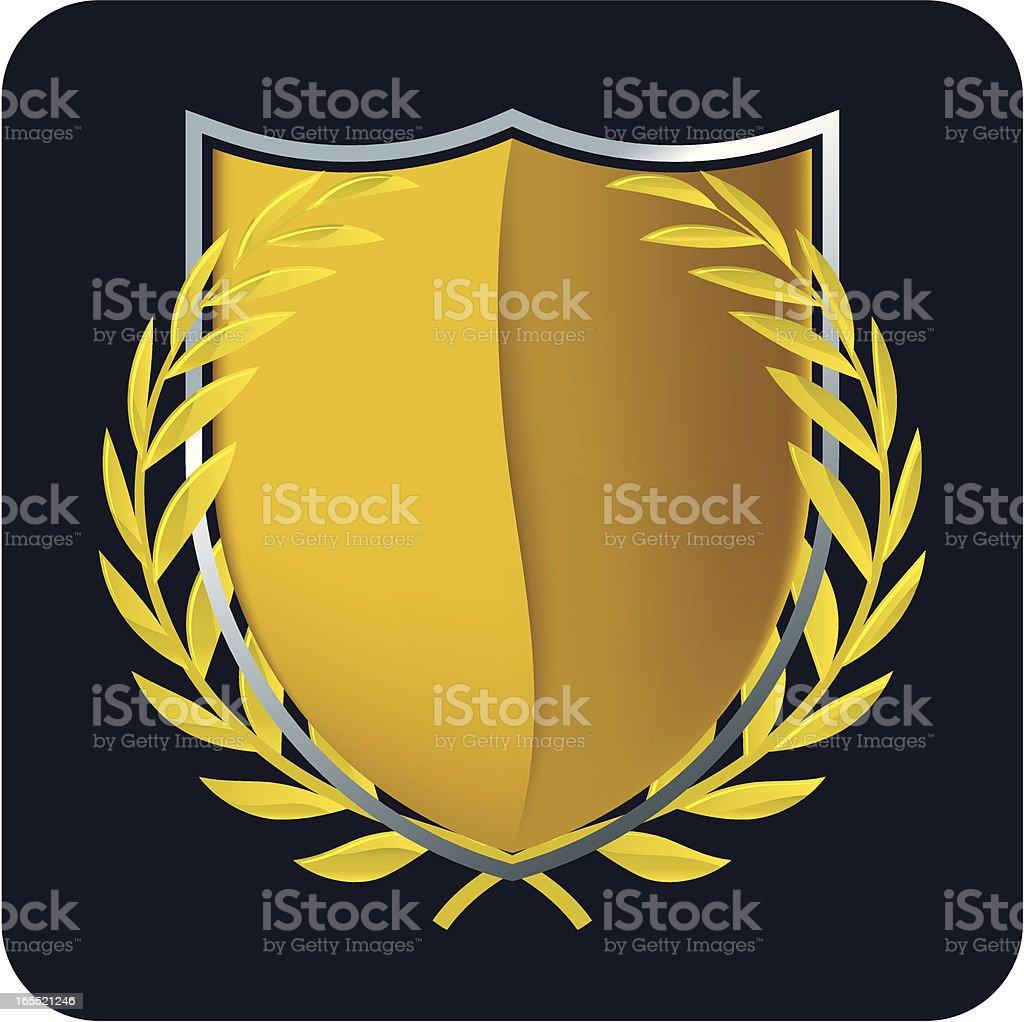 gold emblem royalty-free stock vector art