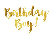Gold foil birthday boy message