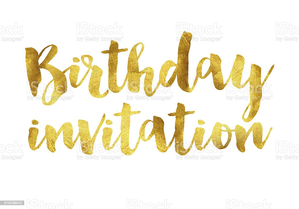 Gold Foil Birthday Invitation Message