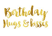 Gold foil birthday message