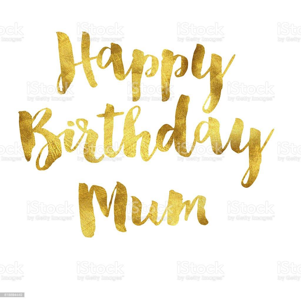 Or Fleuret Joyeux Anniversaire Maman Message Vecteurs Libres