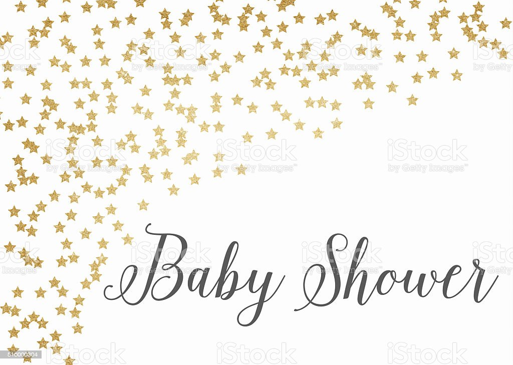 Superior Gold Glitter Baby Shower Background Royalty Free Gold Glitter Baby Shower  Background Stock Vector Art