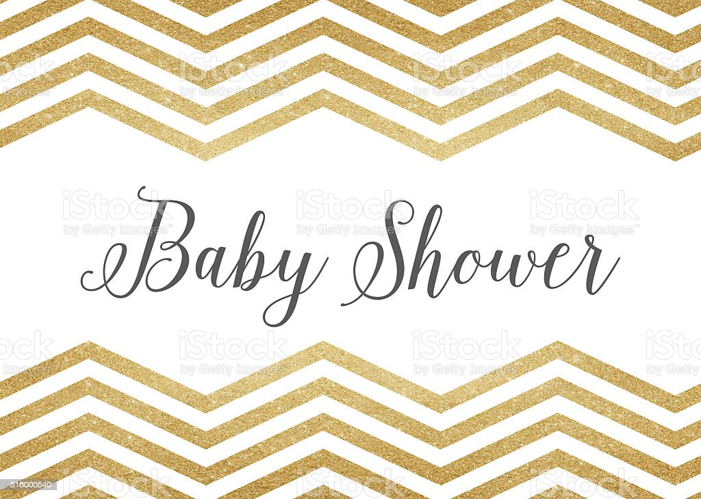 Gold Glitter Baby Shower Background Royalty Free Gold Glitter Baby Shower  Background Stock Vector Art