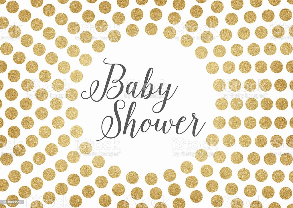 Delightful Gold Glitter Baby Shower Background Royalty Free Gold Glitter Baby Shower  Background Stock Vector Art