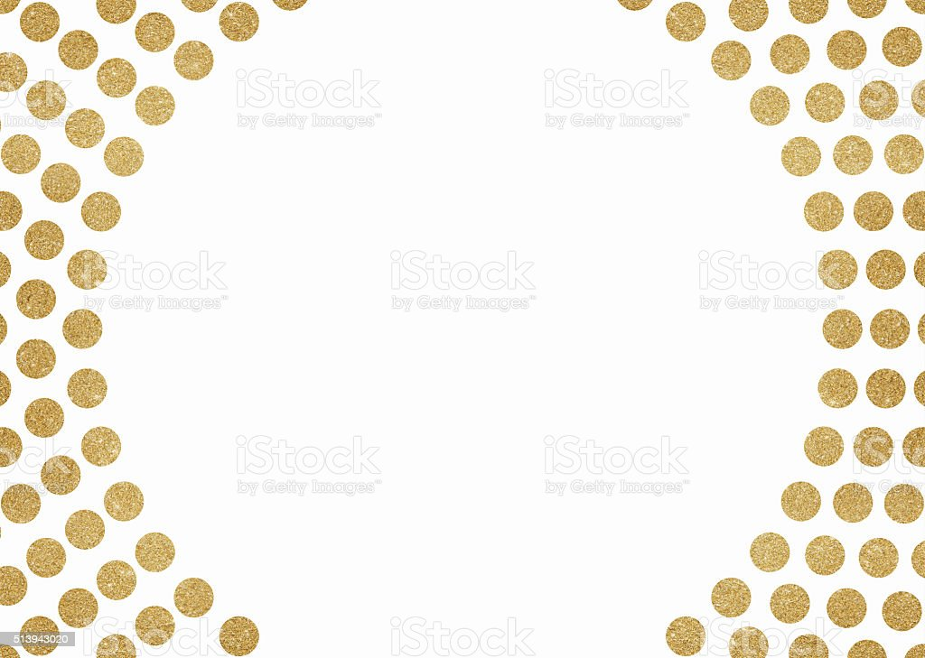 Gold Glitter Circles Background Stock Vector Art & More Images of ...