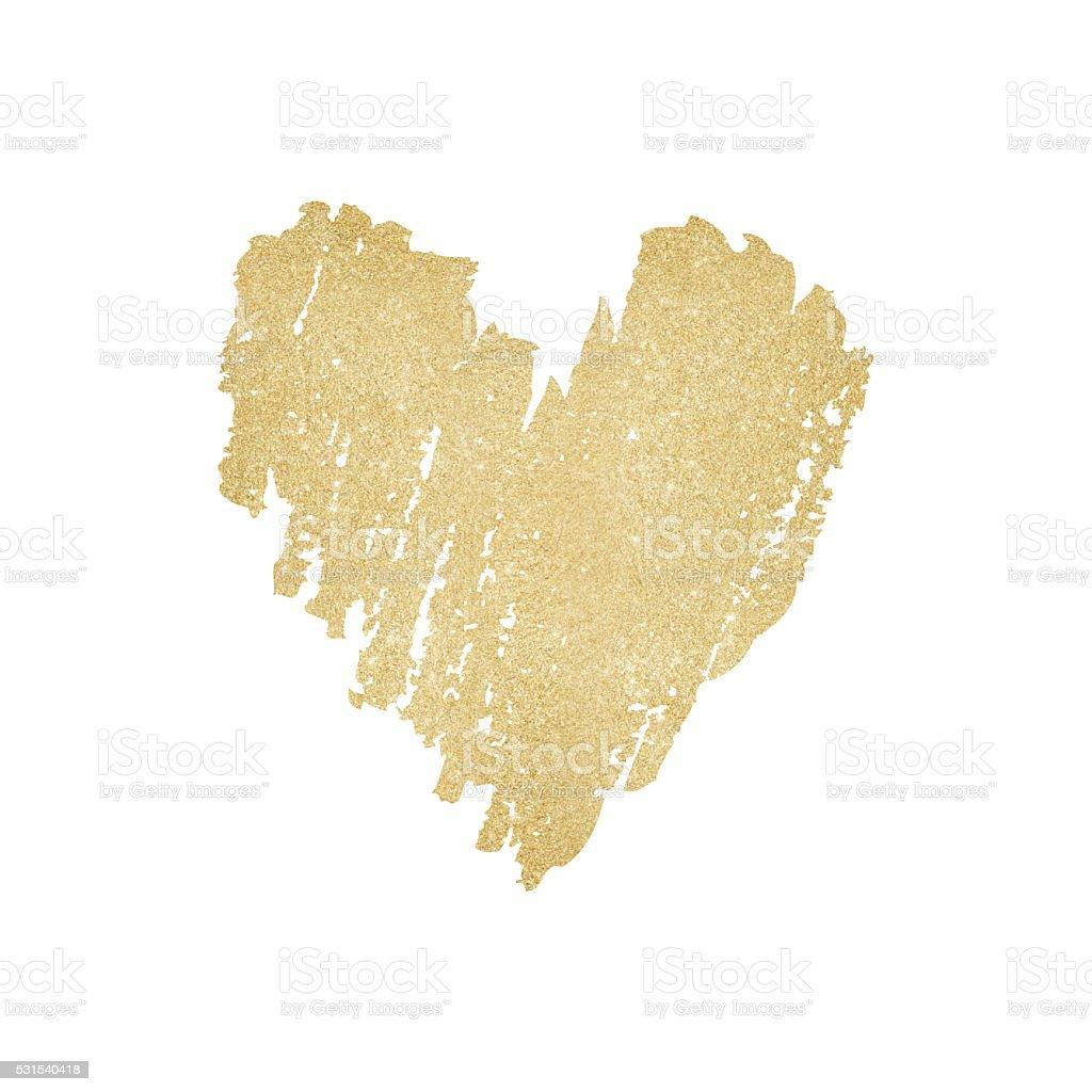Glitzernde Gold Herz Hintergrund – Vektorgrafik