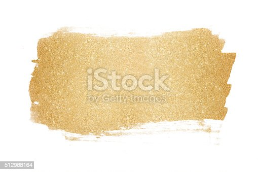 Gold glitter painted background