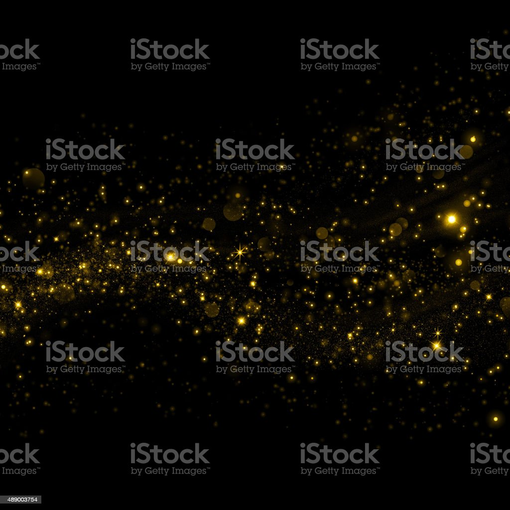 Gold glittering sparkling dust background vector art illustration