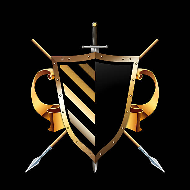 Royalty Free Sword Black Background Clip Art, Vector ...