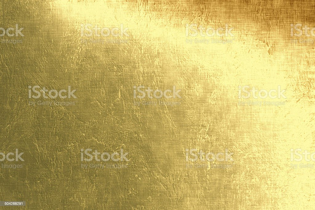 Gold metallic background, linen texture, bright festive background vector art illustration