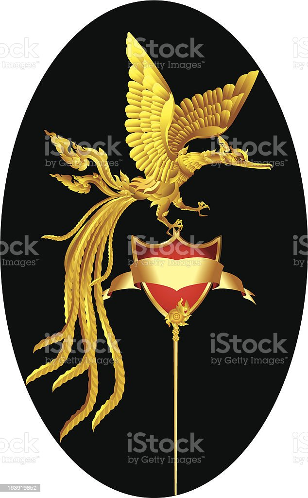 Gold phoenix royalty-free stock vector art