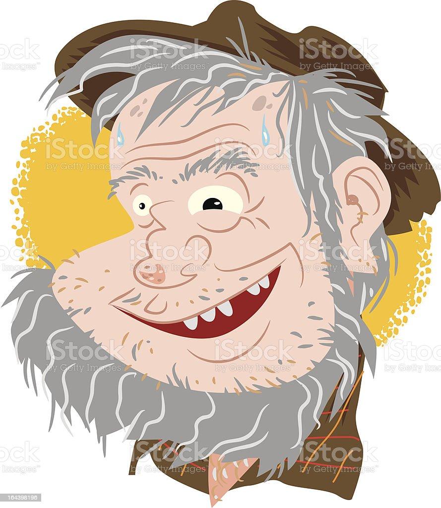 Gold Prospector vector art illustration