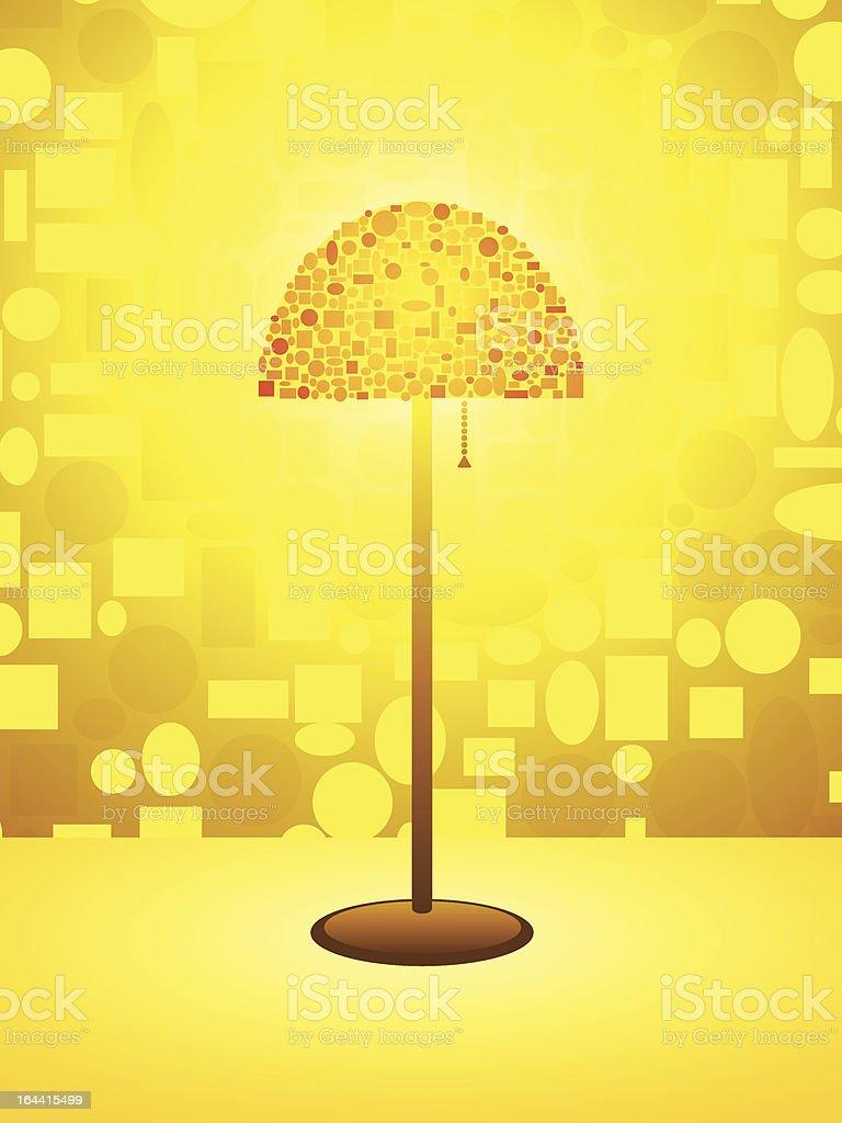 Gold Retro lamp background royalty-free stock vector art