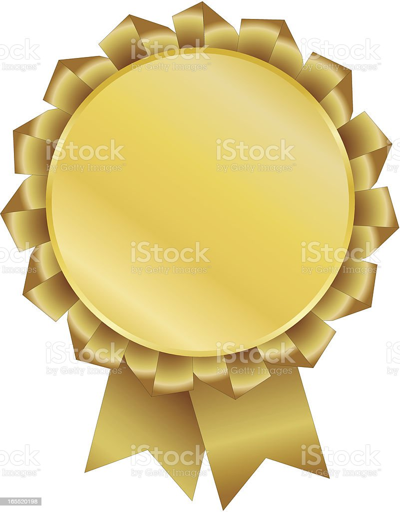 Gold Ribbon royalty-free gold ribbon stock vector art & more images of achievement