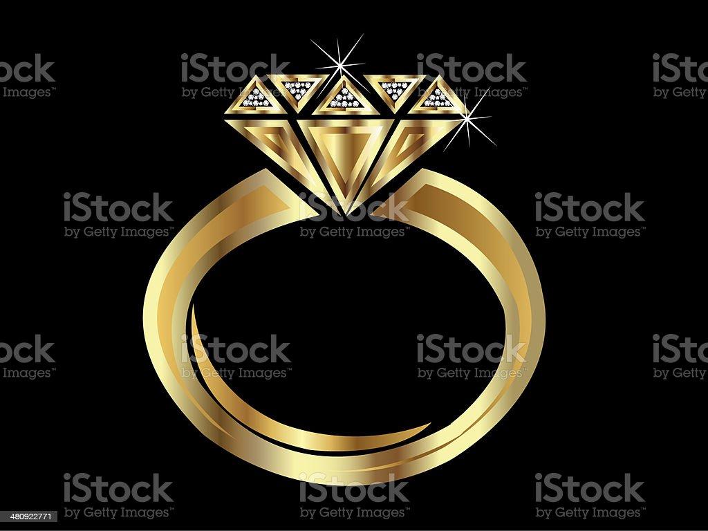 Logotipo de anillo de oro - Ilustración de stock de Abstracto libre de derechos