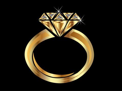 Ilustración de Logotipo De Anillo De Oro y más Vectores Libres de Derechos de Abstracto
