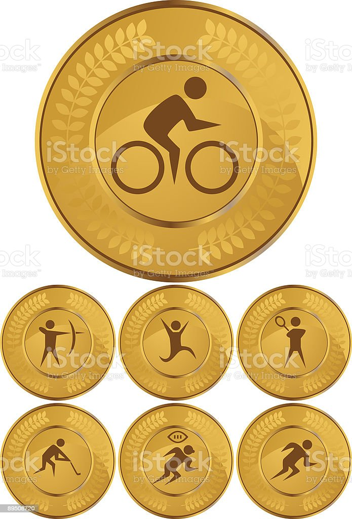 Gold Sports Medals royalty-free gold sports medals stock vector art & more images of american football - sport