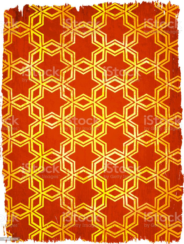 Gold Star design pattern on royalty free vector Background vector art illustration