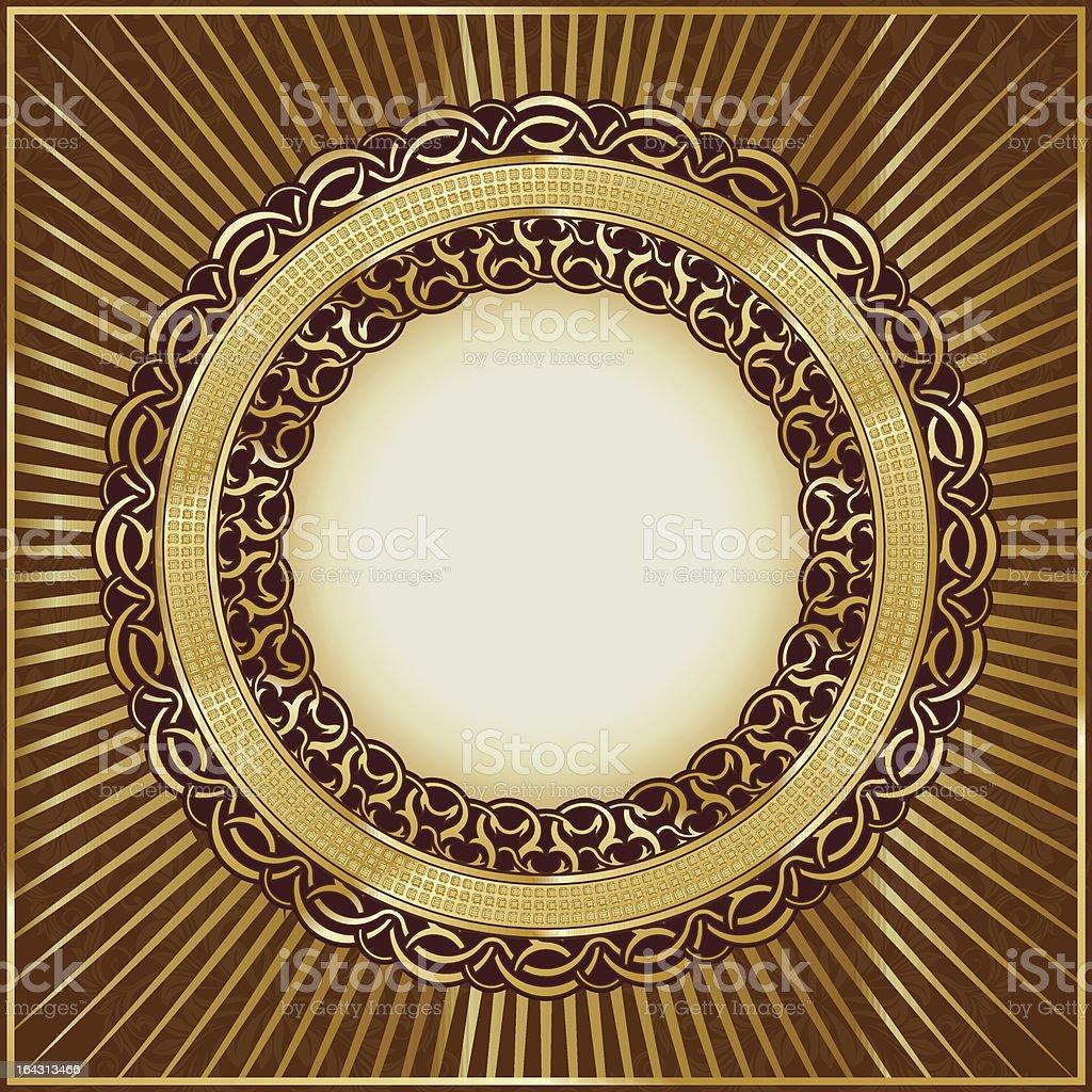 Gold vintage frame royalty-free stock vector art