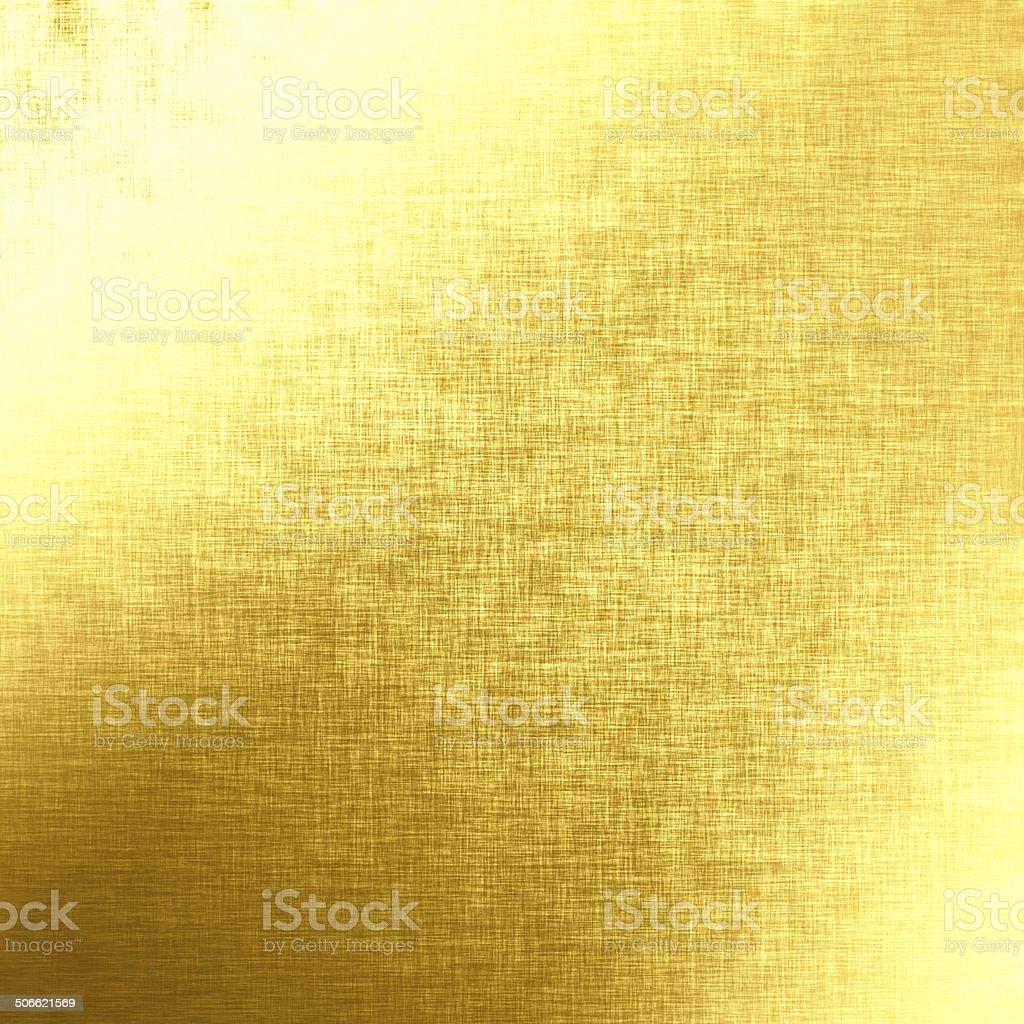Golden background, linen texture vector art illustration