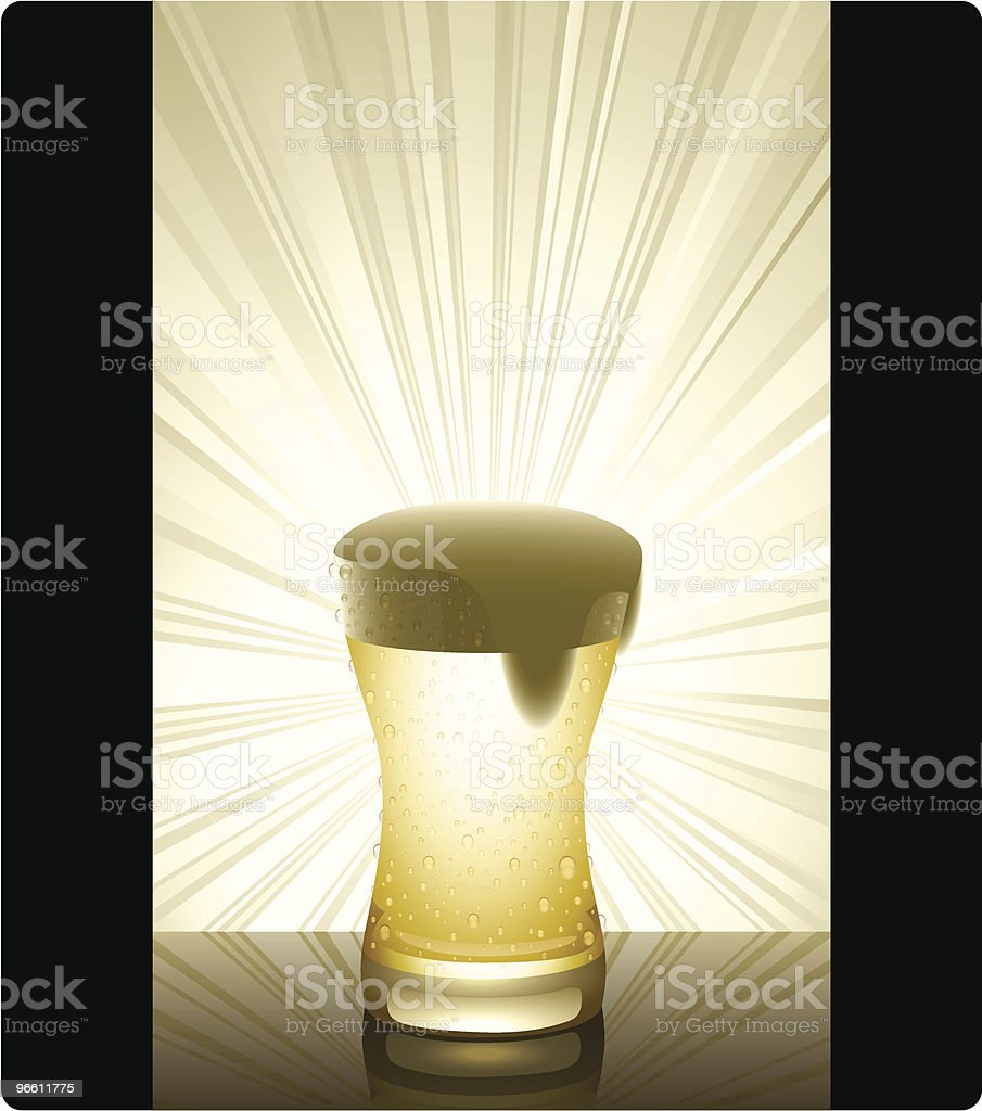 Golden Beer (vertical) - Royalty-free Back Lit stock vector