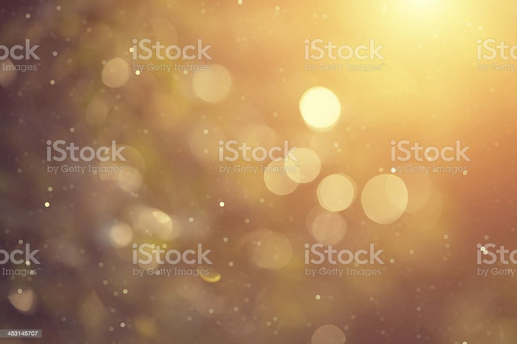 golden bokeh vector art illustration