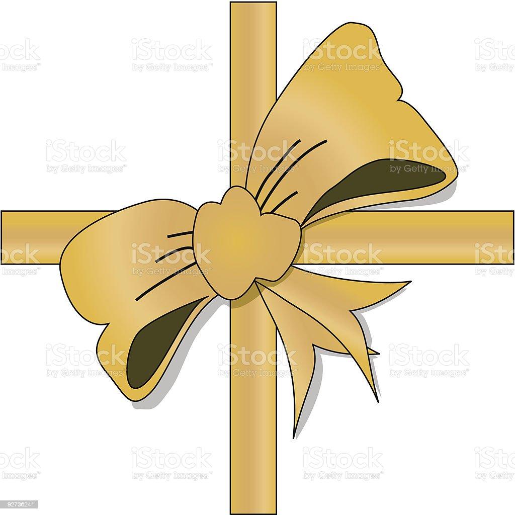 Goldene Schleife Lizenzfreies goldene schleife stock vektor art und mehr bilder von clipart