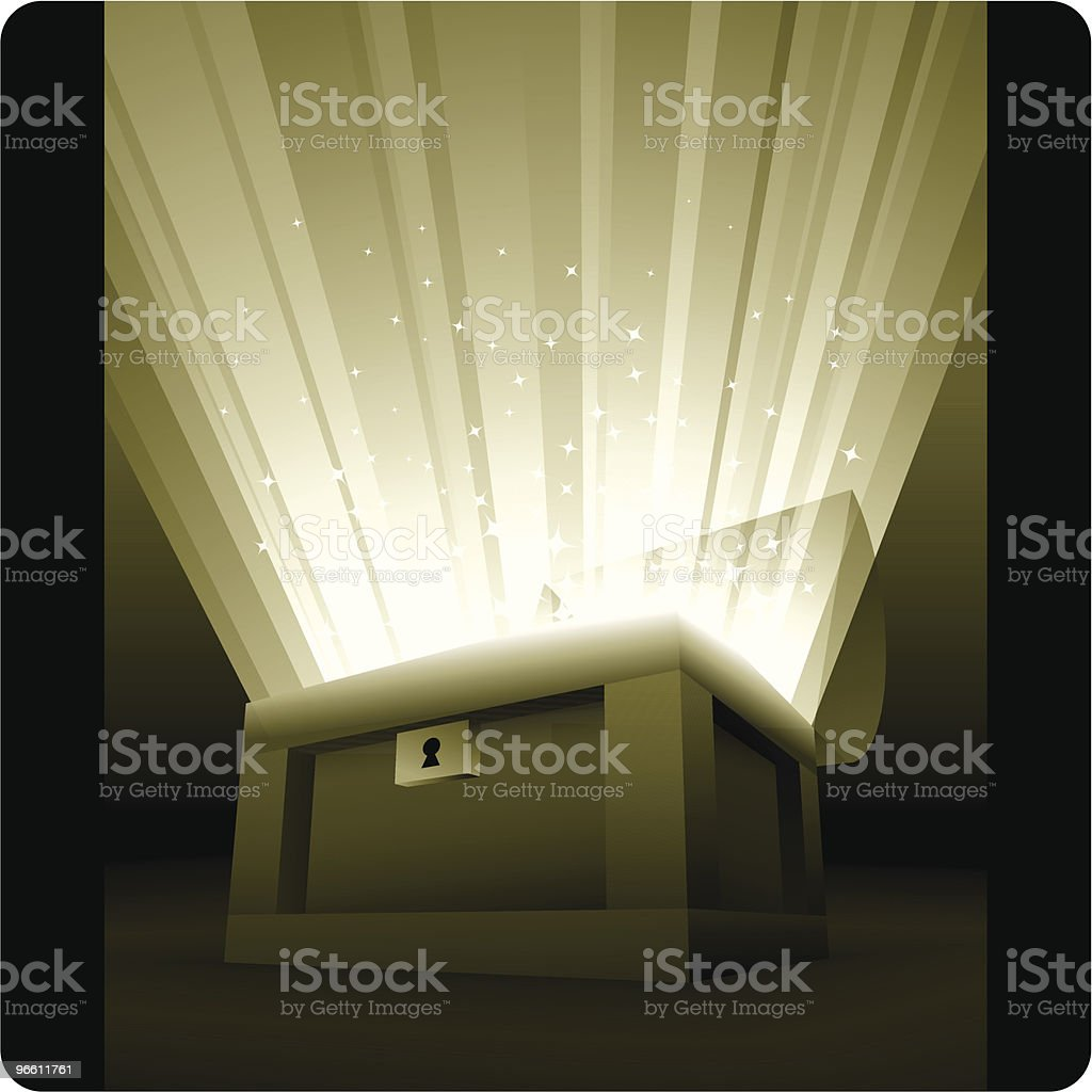Golden Chest - Royalty-free Anxiety stock vector
