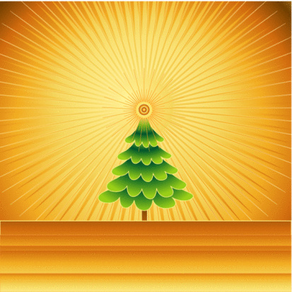 Golden Christmas Stock Illustration - Download Image Now