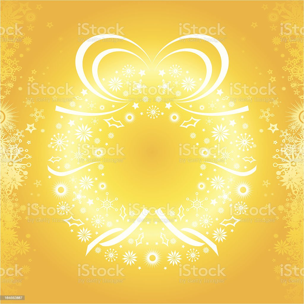 Golden Christmas Wreath royalty-free golden christmas wreath stock vector art & more images of celebration