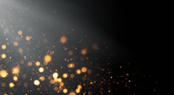 Golden Defocused Lights Background with Copy Space vector art illustration