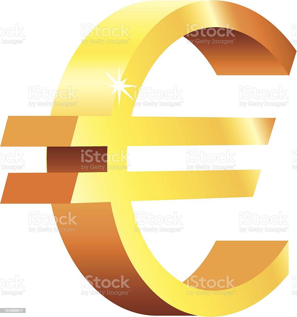 Golden Euro royalty-free stock vector art