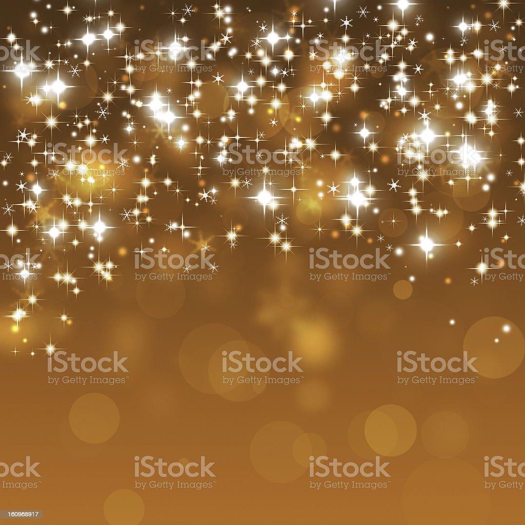 Golden Glitter Lights royalty-free stock vector art