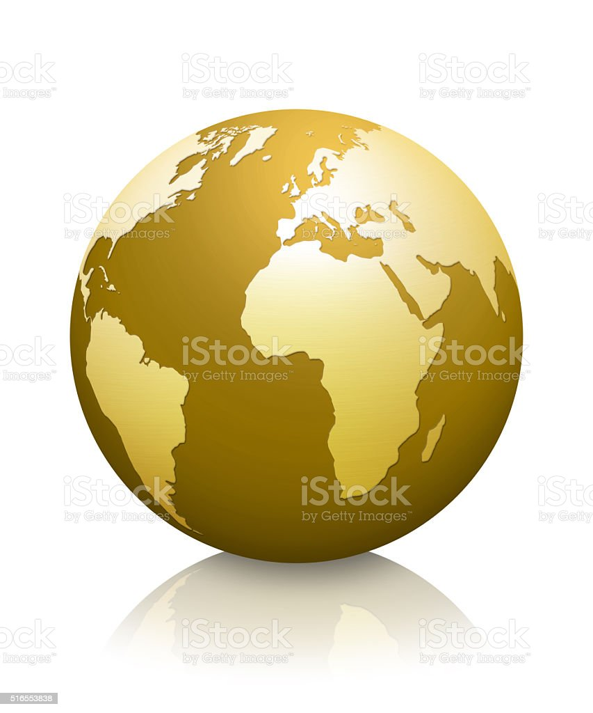 Golden Globe Earth Stock Vector Art & More Images of ...