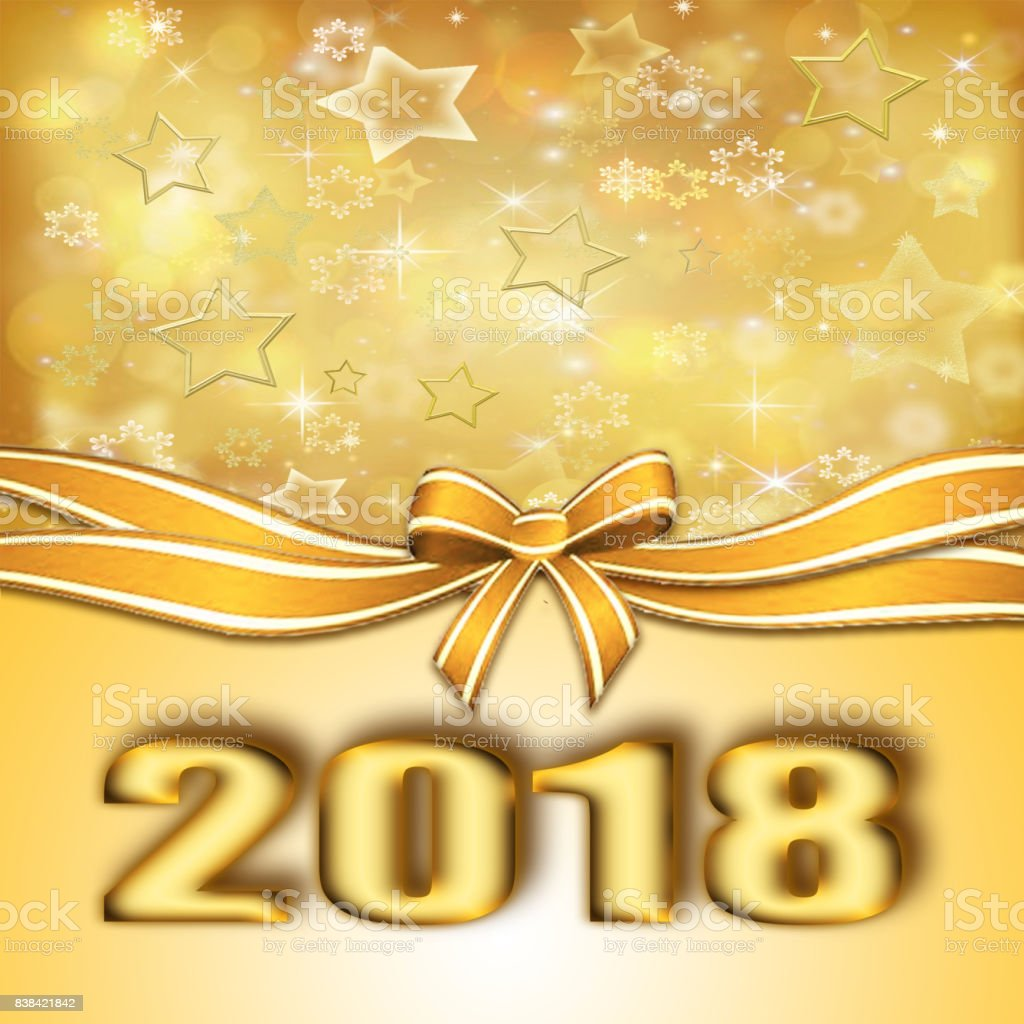 golden happy new year 2018 background royalty free golden happy new year 2018 background stock